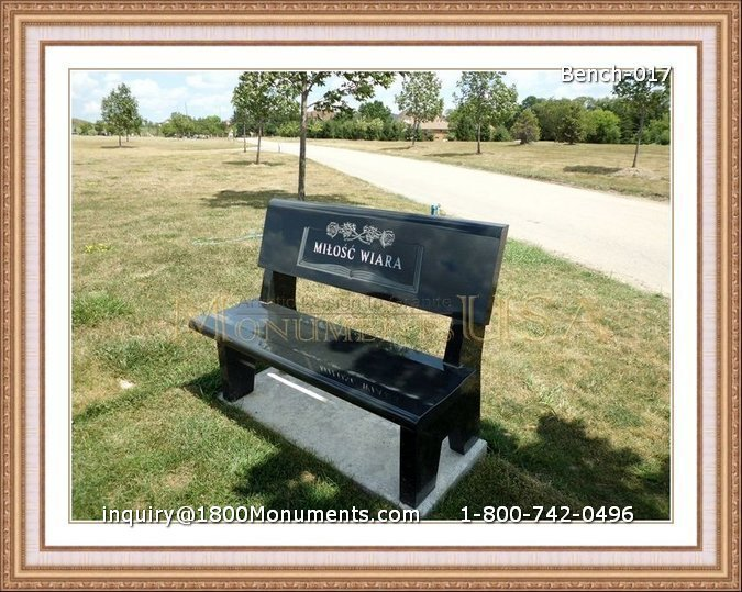 bench gravestones