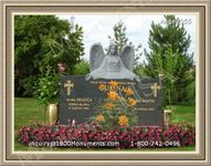 Angel Headstone 055