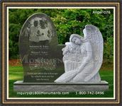 Angel Headstone 076