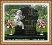 Angel Headstone 136
