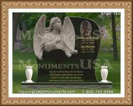 Angel Headstone 162