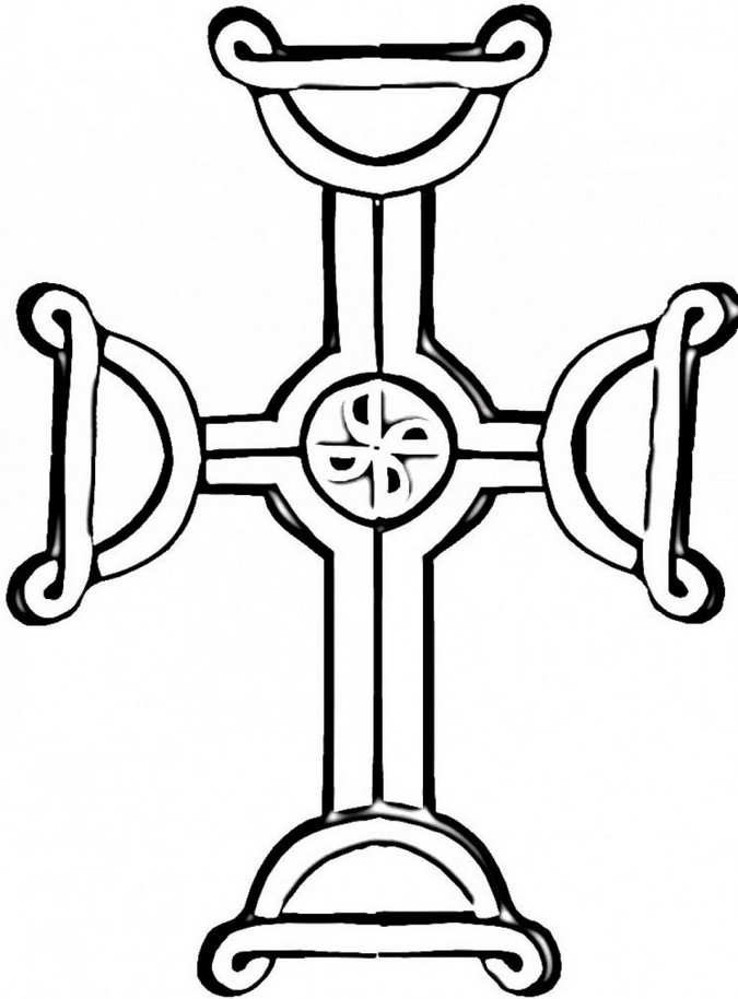 Crosses for Celtic cross coloring pages