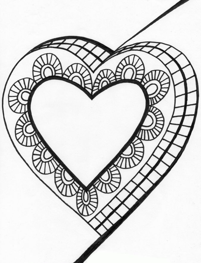 Heart shapes for Double heart coloring pages