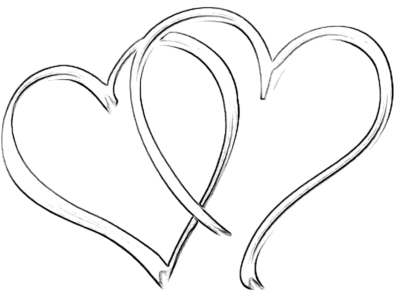 Line Art Love Heart : Heart shapes